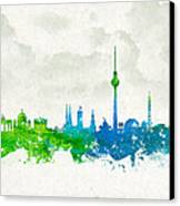 Clouds Over Berlin Germany Canvas Print by Aged Pixel