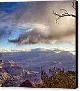 Clouds Over Canyon Canvas Print