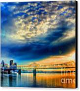 Clouds Over Louisville Canvas Print