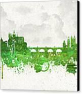 Clouds Over Prague Czech Republic Canvas Print by Aged Pixel
