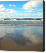 Clouds Reflecting Canvas Print by Cim Paddock