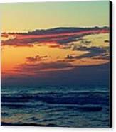 Cloudy Pink Ocean Canvas Print