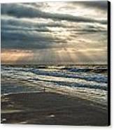 Cloudy Sunrise Canvas Print by Michael Thomas