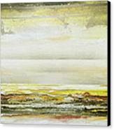 Coast Rhythms And Textures Yellow And Sepia 1  Canvas Print by Mike   Bell