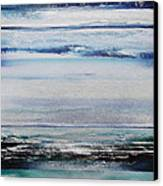 Coast Rhythms And Texturesblueand Silver 1 Canvas Print by Mike   Bell