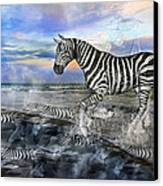 Coastal Stripes I Canvas Print by Betsy Knapp