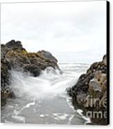 Cobble Beach Waves Canvas Print by Sheldon Blackwell