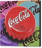 Coca-cola Cap Canvas Print by Tony Rubino