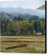 Coeur D Alene River Farm Canvas Print by Idaho Scenic Images Linda Lantzy