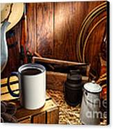 Coffee Break At The Chuck Wagon Canvas Print