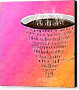 Coffee Cup The Jetsons Sorbet Canvas Print