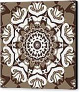 Coffee Flowers 10 Ornate Medallion Canvas Print by Angelina Vick