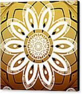 Coffee Flowers Calypso Triptych 2 Horizontal   Canvas Print