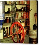 Coffee Grinder And Canister Of Sugar Canvas Print by Susan Savad