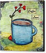 Coffee Love Canvas Print by Lauretta Curtis