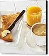 Coffee Toast Orange Juice Canvas Print by Colin and Linda McKie