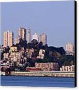 Coit Tower Sits Prominently On Top Of Telegraph Hill In San Fran Canvas Print by Scott Lenhart