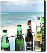 Cold Beers In Paradise Canvas Print by Joan  Minchak
