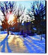 Cold Morning Sun Canvas Print by Jeff Kolker