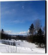 Cold Winter's Day Canvas Print by Steven Valkenberg
