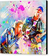 Coldplay Canvas Print by Rosalina Atanasova