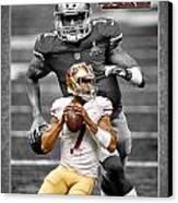 Colin Kaepernick 49ers Canvas Print