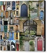 Collage Of Doors Canvas Print