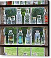Collector - Bottles - Milk Bottles  Canvas Print