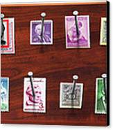 Collector - Stamp Collector - My Stamp Collection Canvas Print