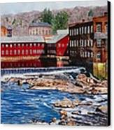 Collinsville Axe Factory Canvas Print by Sharon Farber