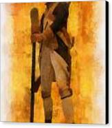 Colonial Soldier Photo Art  Canvas Print by Thomas Woolworth
