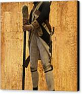 Colonial Soldier Canvas Print by Thomas Woolworth