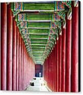 Colonnade In A Royal Palace Canvas Print by George Oze