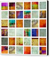Color Block Collage Abstract Art Canvas Print