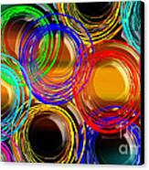 Color Frenzy 1 Canvas Print by Andee Design