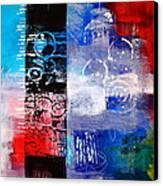 Color Scrap Canvas Print by Nancy Merkle