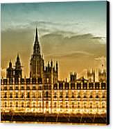 Color Study London Houses Of Parliament Canvas Print by Melanie Viola