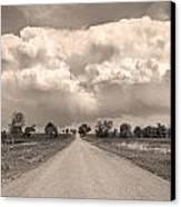 Colorado Country Road Stormin Sepia  Skies Canvas Print