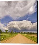 Colorado Country Road Stormin Skies Canvas Print by James BO  Insogna