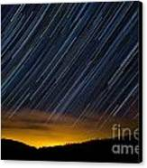 Colorado Mountain Startrails Canvas Print by Benjamin Reed