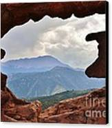 Colorado Siamese Twins Pikes Peak View Canvas Print