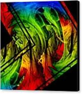 Colored Abstract Art Canvas Print by Mario Perez