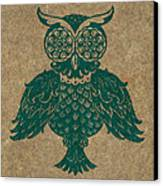 Colored Owl 4 Of 4  Canvas Print by Kyle Wood
