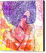 Colored Woman Canvas Print by Kenal Louis