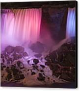 Colorful American Falls Canvas Print by Adam Romanowicz