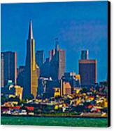 Colorful City By The Bay Canvas Print