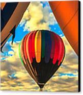 Colorful Framed Hot Air Balloon Canvas Print by Robert Bales