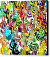 Colorful Glass Drops Canvas Print by Amy Cicconi