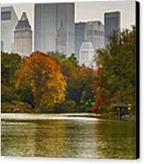 Colorful Magic In Central Park New York City Skyline Canvas Print