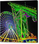 Colorful Rides Canvas Print by Thomas  MacPherson Jr